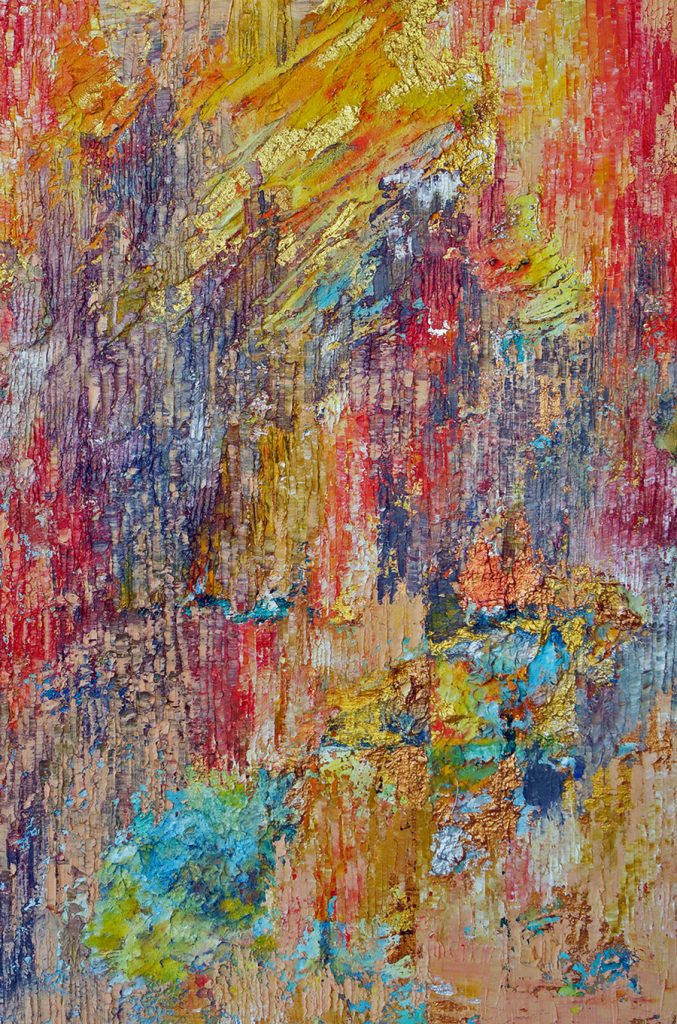 abstract art, modern art, colourful abstract, Abstract oil painting